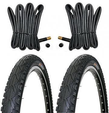 2 x Kenda Fahrradreifen Pannensicher 26 Zoll 50-559 - 26 x 1.95 - inklusive 2 x Schlauch mit Autoluftventil - 1