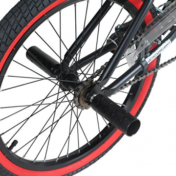 20 Zoll BMX Rooster Big Daddy Spoked SPECIAL EDITION Rotor Pegs , Farbe:schwarz/rot - 5