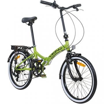 20 Zoll Klapprad Viking Metropolis Fahrrad Faltrad Campingrad, Farbe:Grün - 1