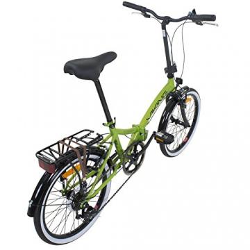 20 Zoll Klapprad Viking Metropolis Fahrrad Faltrad Campingrad, Farbe:Grün - 3