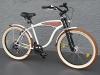 "26"" Beachcruiser Cruiser Fahrrad Shimano 7 Gang Nabendynamo SCHWALBE Holz Dekor - 1"