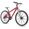 "26"" Zoll ALU MTB MOUNTAIN DIRT BIKE FAHRRAD CHRISSON RUBBY UNISEX mit 24G SHIMANO 2xDISK rot matt -"