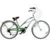 26 Zoll Beachcruiser Viking Retro Ladies Fahrrad Cruiser 2 Farben, Farbe:Grün -