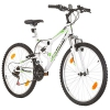 26 Zoll CoollooK EXTREME Fahrrad Fully Full Suspension Mountainbike, MTB, Rahmen 43 cm, 18-GANG, Weiss - 1