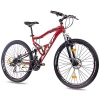 "27,5"" Zoll MOUNTAINBIKE FAHRRAD KCP ATTACK Unisex mit 21 Gang SHIMANO TX rot schwarz - 1"