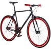 28' Fixie Singlespeed Bike Viking Blade 5 Farben zur Auswahl, Farbe: Schwarz / Rot; Rahmengrösse: 53 cm -