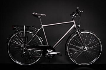 "28"" Zoll Alu MIFA Herren Trekking Fahrrad Shimano 21 Gang Nabendynamo anthrazit Rh 55cm - 1"