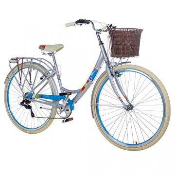 28 Zoll Chill Damenrad Citybike Fahrrad Hollandrad Damenfahrrad 6 Gang, Farbe:metallgrau, Rahmengrösse:19 Zoll - 1