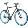 700C 28 Zoll Fixie Singlespeed Bike Galano Blade 5 Farben zur Auswahl, Rahmengrösse:56 cm, Farbe:Schwarz / Blau - 1
