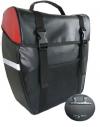 amaro Herren Gepäcktasche Stabile, schwarz-rot, 32,5 x 37 x 16 cm - 1