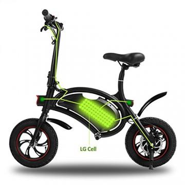 Befied Faltende Elektrofahrrad Wasserdicht Klapprad E-Faltrad App Kontrollierbar E-Bike 30km/h Bluetooth GPS Hinterradbremse Spannung: 350W 36V - 2