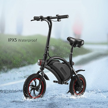 Befied Faltende Elektrofahrrad Wasserdicht Klapprad E-Faltrad App Kontrollierbar E-Bike 30km/h Bluetooth GPS Hinterradbremse Spannung: 350W 36V - 3