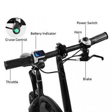 Befied Faltende Elektrofahrrad Wasserdicht Klapprad E-Faltrad App Kontrollierbar E-Bike 30km/h Bluetooth GPS Hinterradbremse Spannung: 350W 36V - 5
