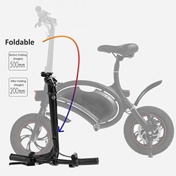 Befied Faltende Elektrofahrrad Wasserdicht Klapprad E-Faltrad App Kontrollierbar E-Bike 30km/h Bluetooth GPS Hinterradbremse Spannung: 350W 36V - 6