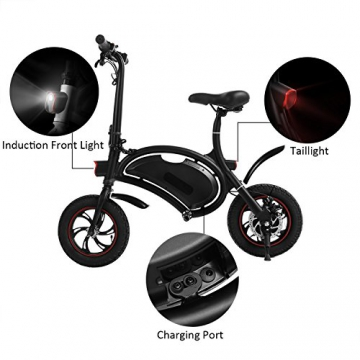 Befied Faltende Elektrofahrrad Wasserdicht Klapprad E-Faltrad App Kontrollierbar E-Bike 30km/h Bluetooth GPS Hinterradbremse Spannung: 350W 36V - 7
