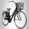Bergsteiger Amsterdam 28 Zoll Damenfahrrad, ab 150 cm, Korb, Fahrrad-Licht, Damen-Citybike mit Rücktrittbremse, Hollandrad im Retro-Design - 1