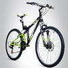 Bergsteiger Buffalo 26 Zoll Mountainbike, geeignet ab 155 cm, Scheibenbremse, Shimano 18 Gang-Schaltung, Vollfederung, Jungen-Fahrrad & Herren-Fahrrad - 1
