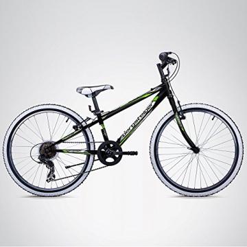 Bergsteiger Kansas 24 Zoll Kinderfahrrad, geeignet für 8, 9, 10, 11 Jahre, Shimano 6 Gang-Schaltung, Mountainbike mit Weißwandbereifung, Jungen-Fahrrad, Mädchen-Fahrrad - 3