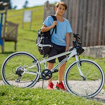 Bergsteiger Kansas 24 Zoll Kinderfahrrad, geeignet für 8, 9, 10, 11 Jahre, Shimano 6 Gang-Schaltung, Mountainbike mit Weißwandbereifung, Jungen-Fahrrad, Mädchen-Fahrrad - 4