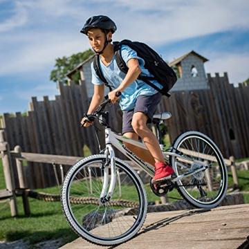 Bergsteiger Kansas 24 Zoll Kinderfahrrad, geeignet für 8, 9, 10, 11 Jahre, Shimano 6 Gang-Schaltung, Mountainbike mit Weißwandbereifung, Jungen-Fahrrad, Mädchen-Fahrrad - 7