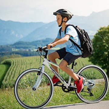 Bergsteiger Kansas 24 Zoll Kinderfahrrad, geeignet für 8, 9, 10, 11 Jahre, Shimano 6 Gang-Schaltung, Mountainbike mit Weißwandbereifung, Jungen-Fahrrad, Mädchen-Fahrrad - 8