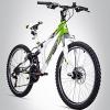 Bergsteiger Montreal 24 Zoll Mountainbike, vollgefedert, 18 Gang Shimano, Scheibenbremse, geeignet für 8 - 11 Jahre -