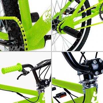 Bergsteiger Ohio 20 Zoll BMX, 360° Rotor-System, Freestyle, 4 Stahl Pegs, Kettenschutz, Freilauf - 8