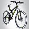 Bergsteiger Phoenix 26 Zoll Mountainbike, Fully, Scheibenbremsen, 21 Gang Shimano -