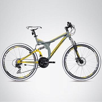 Bergsteiger Phoenix 26 Zoll Mountainbike, geeignet ab 160 cm, Scheibenbremse, Shimano 21 Gang-Schaltung, Vollfederung, Jungen-Fahrrad & Herren-Fahrrad - 3