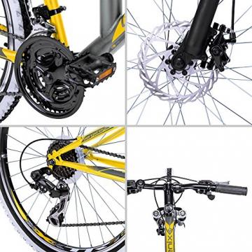 Bergsteiger Phoenix 26 Zoll Mountainbike, geeignet ab 160 cm, Scheibenbremse, Shimano 21 Gang-Schaltung, Vollfederung, Jungen-Fahrrad & Herren-Fahrrad - 9