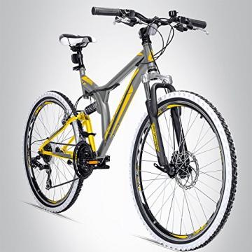 Bergsteiger Phoenix 26 Zoll Mountainbike, geeignet ab 160 cm, Scheibenbremse, Shimano 21 Gang-Schaltung, Vollfederung, Jungen-Fahrrad & Herren-Fahrrad - 1
