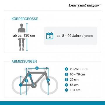 Bergsteiger Tokyo 20 Zoll BMX, Fatbike, 360° Rotor-System, Freestyle, 4 Stahl Pegs, Kettenschutz, Freilauf - 2