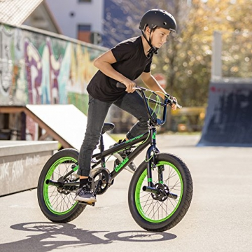 Bergsteiger Tokyo 20 Zoll BMX, Fatbike, 360° Rotor-System, Freestyle, 4 Stahl Pegs, Kettenschutz, Freilauf - 5
