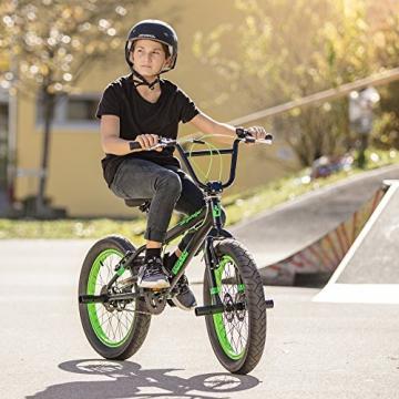 Bergsteiger Tokyo 20 Zoll BMX, Fatbike, 360° Rotor-System, Freestyle, 4 Stahl Pegs, Kettenschutz, Freilauf - 7
