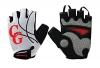 Camari Gear Sports Halbfinger-Fahrradhandschuhe (PAAR) Rennradfahren, Fahrrad, Mountainbike, Fitnessstudio, Fitness-Handschuhe für Männer und Frauen – Atmungsaktive, rutschfeste Handschuhe zum Radfahren (White/Red, Large) - 1