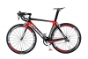 Carbon Road bike-700C 50mm Drahtreifen Laufradsatz mit reflektierendem Logo, Shimano 105Gruppe -