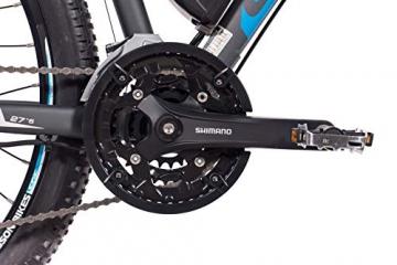 CHRISSON 27,5 Zoll E-Bike Mountainbike - E-Weger grau blau 53 cm - Elektro Fahrrad für Herren und Damen - 27 Gang Shimano Altus Kettenschaltung - Pedelec mit Bafang Hinterradmotor 250W, 45Nm - 4