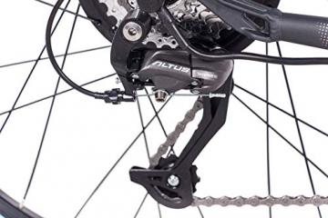 CHRISSON 27,5 Zoll E-Bike Mountainbike - E-Weger grau blau 53 cm - Elektro Fahrrad für Herren und Damen - 27 Gang Shimano Altus Kettenschaltung - Pedelec mit Bafang Hinterradmotor 250W, 45Nm - 5