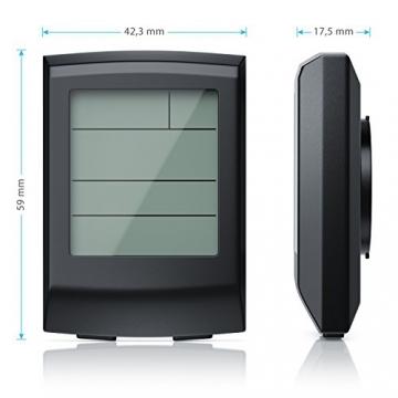 CSL - Fahrradcomputer kabellos | Fahrradtacho/Radcomputer/Tachometer | 13 Funktionen/Temperaturanzeige in °C | Reed-Sensor | inkl. Befestigungsmaterial | Hintergrundbeleuchtung | IP65 - 2