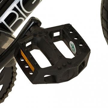 deTOX 20 Zoll BMX Big Shaggy Spoked 8 verschiedene Farben zur Auswahl + 4 Pegs inkl, Farbe:Schwarz/Weiss - 7
