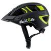 ➤ Skullcap® Fahrradhelm ♦ MTB Helm ♦ Mountainbike Helm ♦ Herren & Damen ♦ Schwarz/Neon-Grün matt ✚ Visier/Helmschild, Größe M (55 - 58 cm) - 1