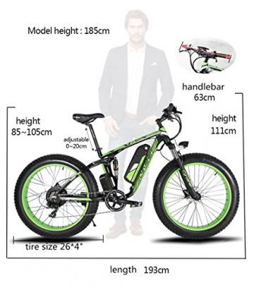 Extrbici XF800, E-Bike,1000W, 48V, 13Ah, Xf800, weiß - 2
