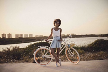 Fabric Cityrad - Hollandrad Damen Fahrrad mit Korb, Shimano Inter 3-Gang, 5 Farben, 14 Kg. (Pearl Whitechapel Deluxe, 45) - 6