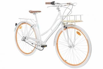 Fabric Cityrad - Hollandrad Damen Fahrrad mit Korb, Shimano Inter 3-Gang, 5 Farben, 14 Kg. (Pearl Whitechapel Deluxe, 45) - 1
