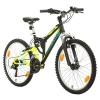 Fahrrad MTB Mountainbike Fully Full Suspension 24 Zoll Bikesport PARALLAX Shimano 18 Gang … (Schwarz Neon Grün) - 1