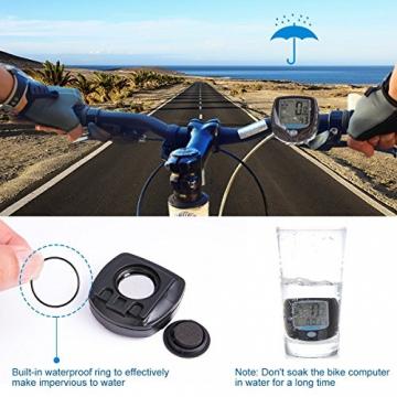 Fahrradcomputer Kabellos, ccbetter Fahrrad Computers Drahtlos Wasserdicht Tachometer Wireless Fahrradtacho Drahtloser für Radsport Realtime Speed Track - 3