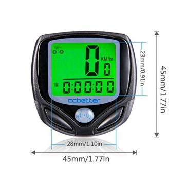 Fahrradcomputer Kabellos, ccbetter Fahrrad Computers Drahtlos Wasserdicht Tachometer Wireless Fahrradtacho Drahtloser für Radsport Realtime Speed Track - 5