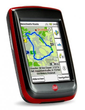 Fahrradnavigationsgerät Falk IBEX 32, 3 Zoll Touchscreen, Premium Outdoor-Karte und Basiskarte Plus (EU 25) zum Tourenradfahren, Wandern und Geocaching - 2