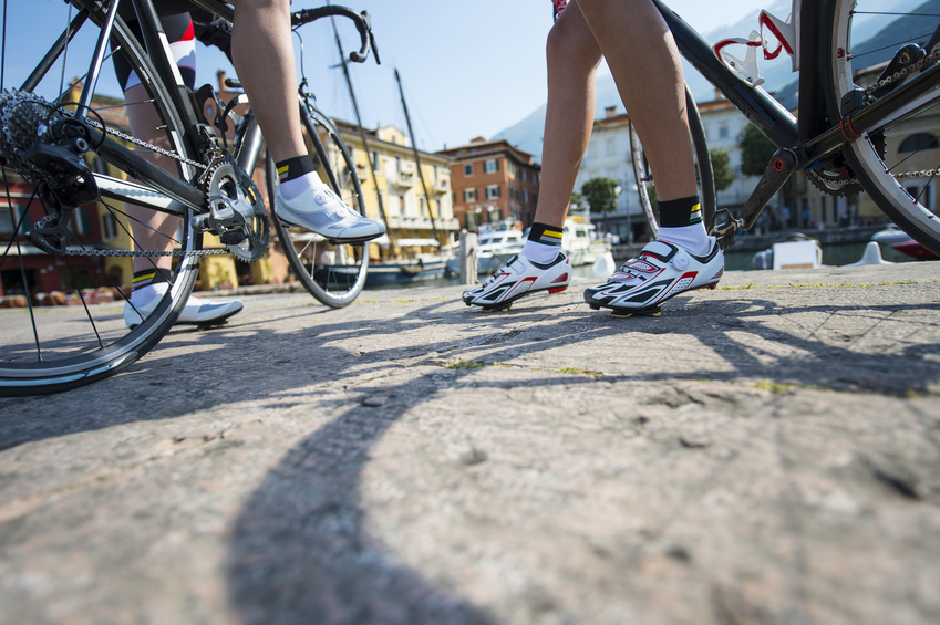 Fahrradsocken schützen den Fuß im Fahrradschuh