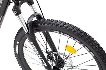 Fitifito MT 27,5 Zoll Elektrofahrrad Mountainbike E-Bike Pedelec, 36V 13Ah 468Wh LG Cells Lithium-Ionen USB , 36V 250W Heckmotor, 21 Gang Shimano Schaltung, Mechanische Scheibenbremse - 4
